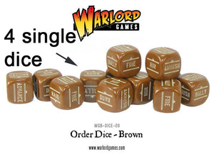 Warlord Games Brown Order Dice x4