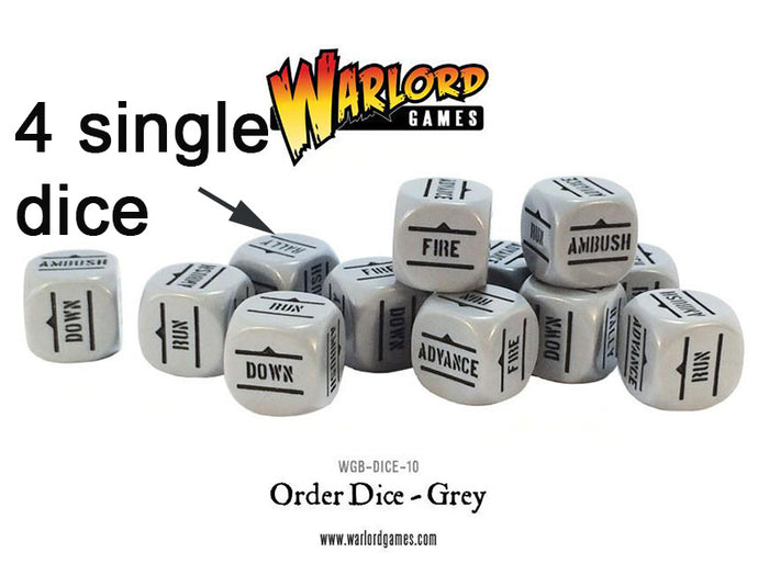 Warlord Games Grey Order Dice x4