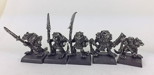 Classic Warhammer Skaven Clanrats Rare Metal OOP