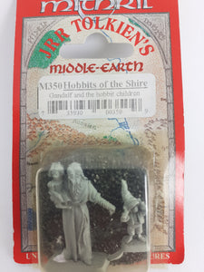Mithril Miniatures M350 Lord of the Rings GANDALF & HOBBITS - Still in Blister, Metal, OOP