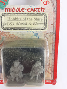 Mithril Miniatures M353 Lord of the Rings HOBBITS: MARCH & BLANCO - Still in Blister, Metal, OOP