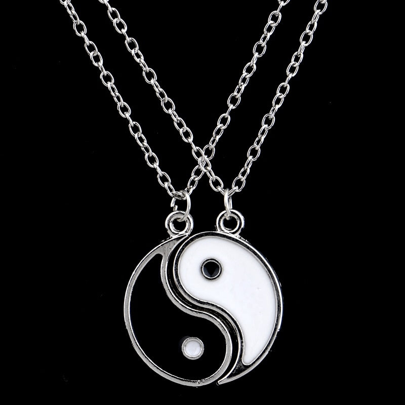 2 Piece Yin Yang BFF Charm Necklace