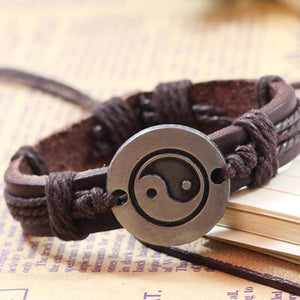 FREE Yin Yang Leather Wristband