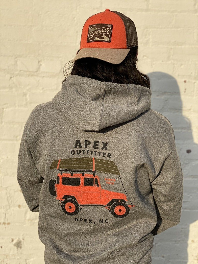 Apex Outfitter Jeep Logo Hoodie General Apex Outfitter & Board Co