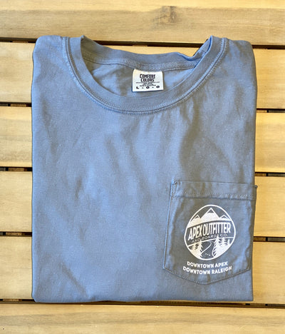 Apex Outfitter Logo Pocket T-Shirt Shirts AOBC S Grey