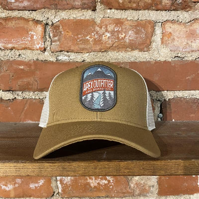 Apex Outfitter Logo Trucker Hat Inventory Pukka Khaki
