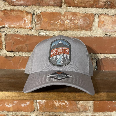 Apex Outfitter Logo Trucker Hat Inventory Pukka Light Grey Tri