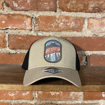 Apex Outfitter Logo Trucker Hat Inventory Pukka Tan/Black Tri