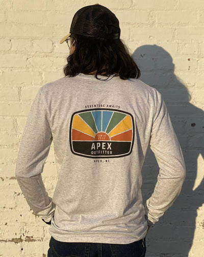 Apex Outfitter Sunset Logo Long-Sleeve T-Shirt General Apex Outfitter & Board Co