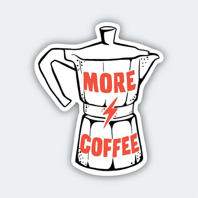 Assorted Stickers Accessories Apex Outfitter & Board Co More Coffee Pot