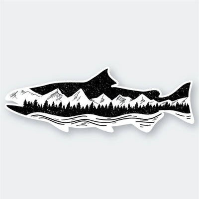 Assorted Stickers Accessories Apex Outfitter & Board Co Mountain Landscape Salmon