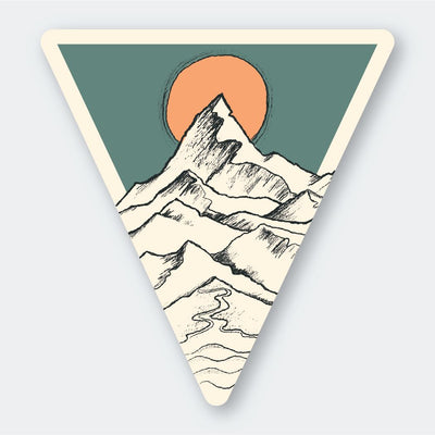 Assorted Stickers Accessories Apex Outfitter & Board Co Mountain Peak Sun Triangle