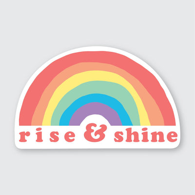 Assorted Stickers Accessories Apex Outfitter & Board Co Rise & Shine Rainbow