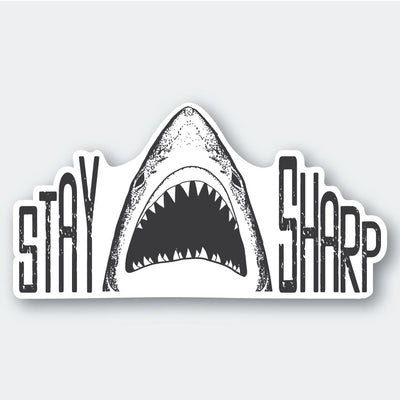 Assorted Stickers Accessories Apex Outfitter & Board Co Stay Sharp Shark