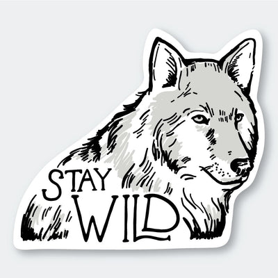 Assorted Stickers Accessories Apex Outfitter & Board Co Stay Wild Wolf