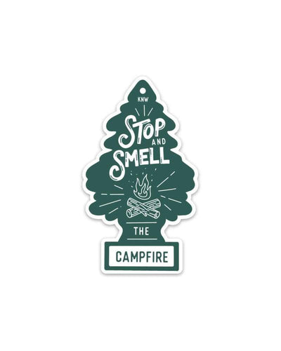 Assorted Stickers Accessories Apex Outfitter & Board Co Stop and Smell the Campfire