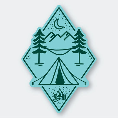 Assorted Stickers Accessories Apex Outfitter & Board Co Teal Camping Diamond
