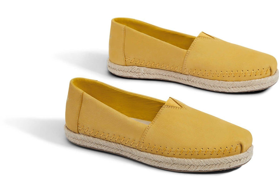 Electric Yellow Nubuck Womens ALPR General TOMS
