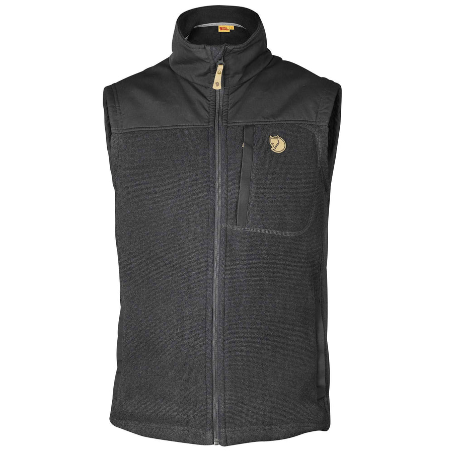 Fjallraven Buck Fleece Vest - Men's Outerwear Fjall Raven M Laurel Green/Deep Forest