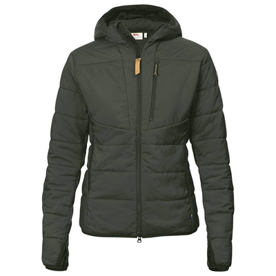 Fjallraven Keb Padded Hoodie - Womens Outerwear Fjallraven XS Deep Forest