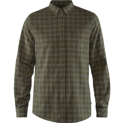Fjallraven Ovik Flannel Shirt - Mens Shirts Fjallraven S Deep Forest