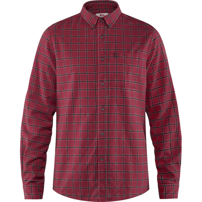 Fjallraven Ovik Flannel Shirt - Mens Shirts Fjallraven S Deep Red