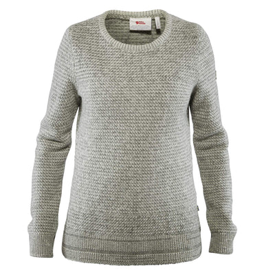 Fjallraven Ovik Structure Sweater - Womens Shirts Fjallraven Egg Shell/Grey XS