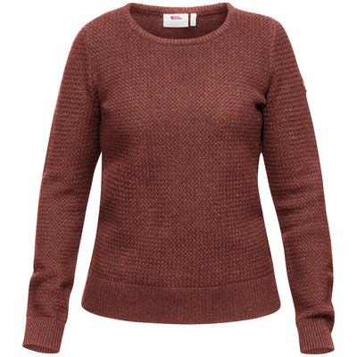 Fjallraven Ovik Structure Sweater - Womens Shirts Fjallraven Terracotta Pink XS