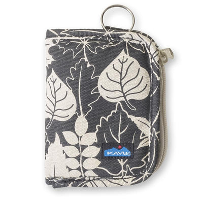 Kavu Zippy Wallet General KAVU Black/White Leaf