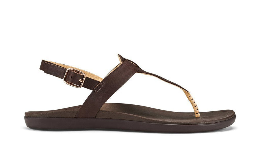 OluKai Ekekeu Sandal (Kona Coffee) - Womens General OluKai