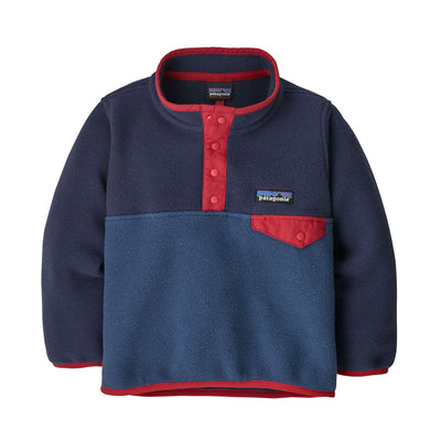 Patagonia Baby Lightweight Synch Snap-T Pullover Jackets & Fleece Patagonia Stone Blue w/New Navy 2T