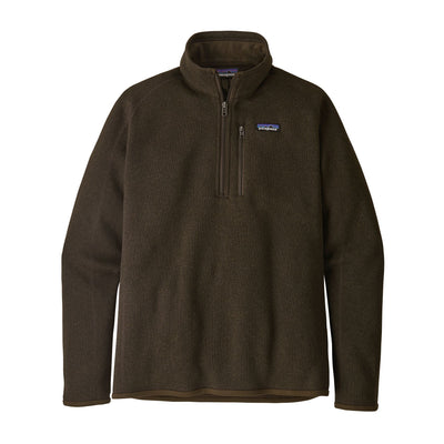 Patagonia Better Sweater 1/4 Zip - Mens Jackets & Fleece Patagonia M Logwood Brown
