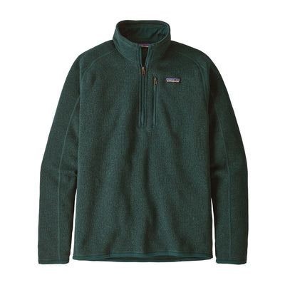 Patagonia Better Sweater 1/4 Zip - Mens Jackets & Fleece Patagonia S Piki Green