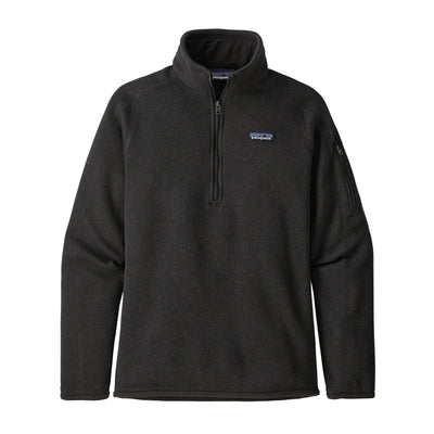 Patagonia Better Sweater 1/4 Zip - Womens Jackets & Fleece Patagonia Black XS