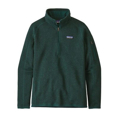 Patagonia Better Sweater 1/4 Zip - Womens Jackets & Fleece Patagonia Piki Green XS