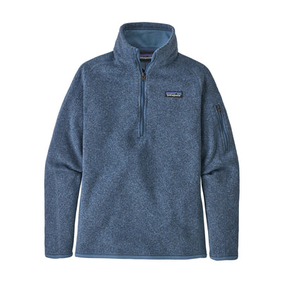 Patagonia Better Sweater 1/4 Zip - Womens Jackets & Fleece Patagonia Woolly Blue XS