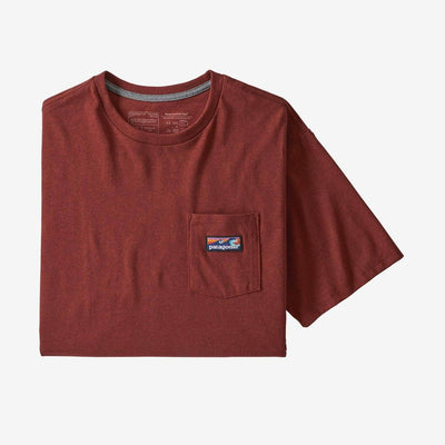 Patagonia Boardshort Label Pocket Responsibili-Tee - Men's General Patagonia XS Barn Red