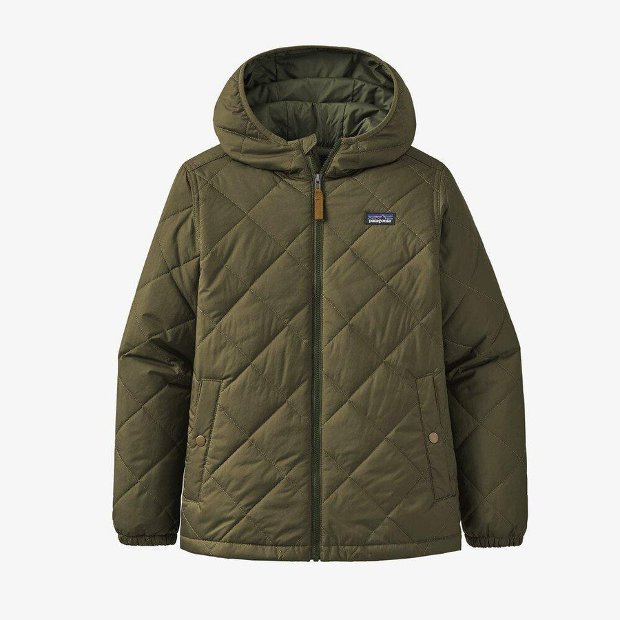 Patagonia Boys' Diamond Quilt Hoody General Patagonia XS Basin Green