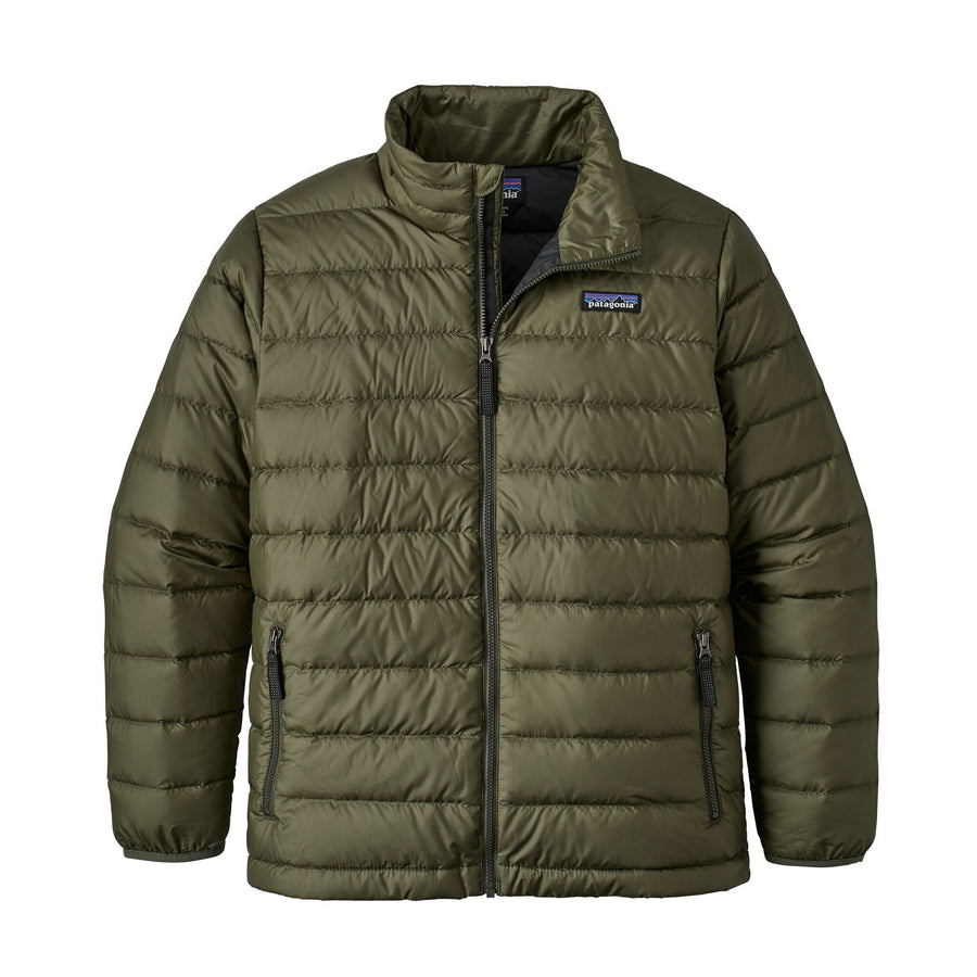 Patagonia Boys Down Sweater Outerwear Patagonia Industrial Green S