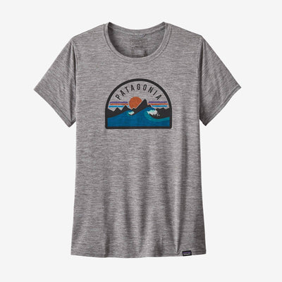 Patagonia Capilene Cool Daily Graphic Shirt - Womens Shirts Patagonia XS Boardie Badge: Feather Grey