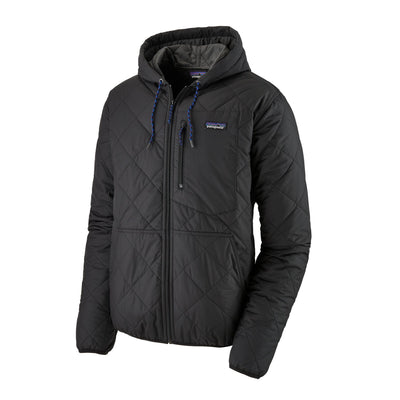 Patagonia Diamond Quilted Bomber Hoody - Mens Jackets & Fleece Patagonia Black XS