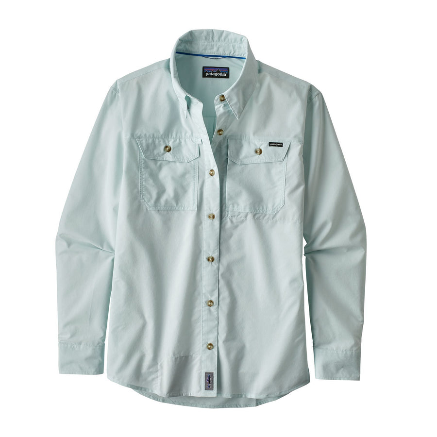 Patagonia Long Sleeve Sun Stretch Shirt (Chambray: Atoll Blue) - Women's Shirts Patagonia