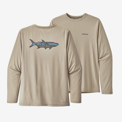 Patagonia Long-Sleeved Capilene Cool Daily Fish Graphic Shirt General Patagonia M Sketched Fitz Roy Tarpon: Pumice