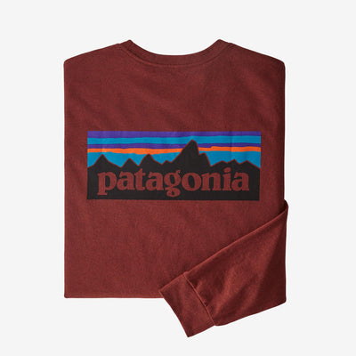 Patagonia Long-Sleeved P-6 Logo Responsibili-Tee - Men's General Patagonia XL Barn Red
