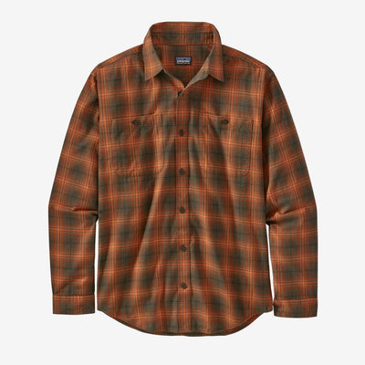 Patagonia Long Sleeved Pima Cotton Shirt - Men's Inventory Patagonia Brew: Desert Orange S