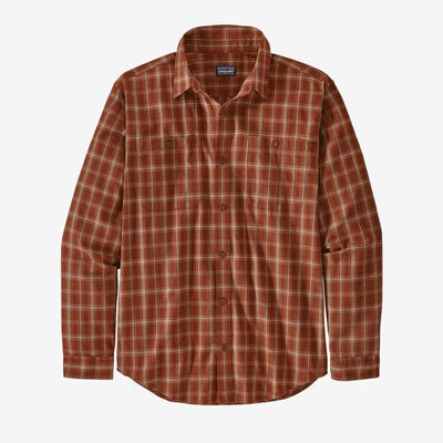 Patagonia Long Sleeved Pima Cotton Shirt - Men's Inventory Patagonia Bushel: Barn Red S