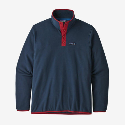 Patagonia Micro D Snap-T Pullover - Men's Jackets & Fleece Patagonia S New Navy/Classic Red