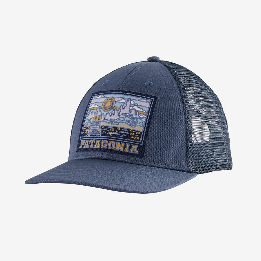 Patagonia Summit Road LoPro Trucker Hat General Patagonia Dolomite Blue