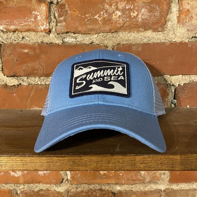 Summit and Sea Trucker Hat Inventory Summit and Sea Carolina Blue