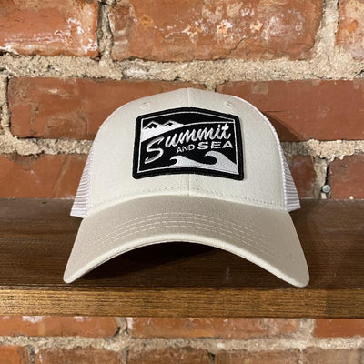 Summit and Sea Trucker Hat Inventory Summit and Sea Cream/White